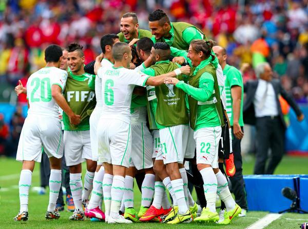 L'Algérie est la première équipe africaine à inscrire 4 buts en Coupe du Monde. #ALG #KORALG @LesVerts http://t.co/5iGXXOLQIx