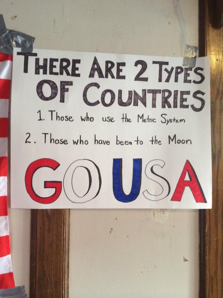 RT @calcio57: @MenInBlazers metric system < moon landing < World Cup 2014 champs. #ItIsWritten #USAvsPOR http://t.co/YSiF3HvpCX