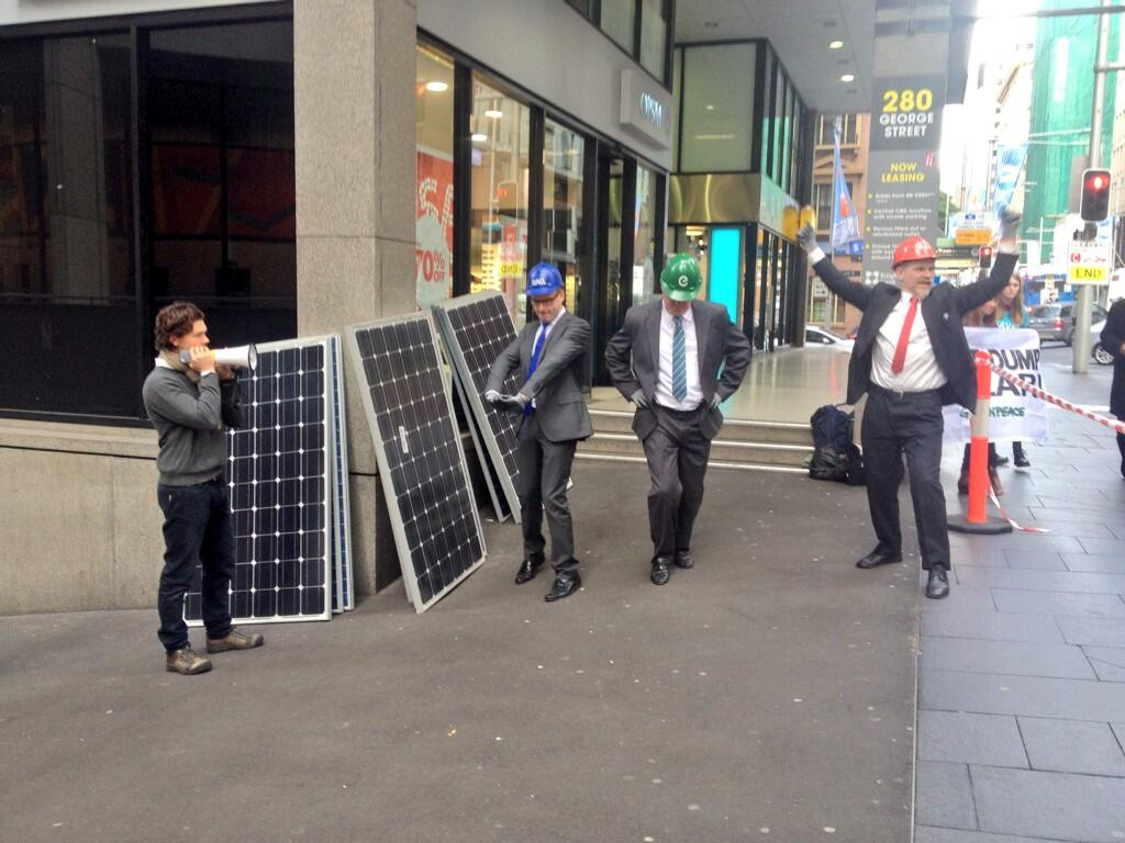 Twitter / GreenpeaceAustP: Warming up for the race. Who's ...