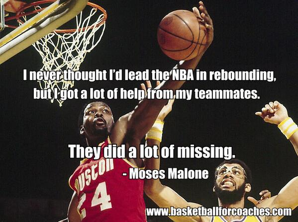 Quotes › Authors › M › Moses Malone › You got to work hard whatever You got to work hard whatever you're doing and try to be number one and take pride in what you're doing. You want to be at the best at your spot then you got to work hard, man.