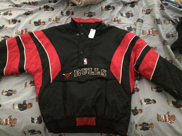 Today's finds: Chicago Bulls Starter jacket size Large http://t.co/dSpf3vhQFZ