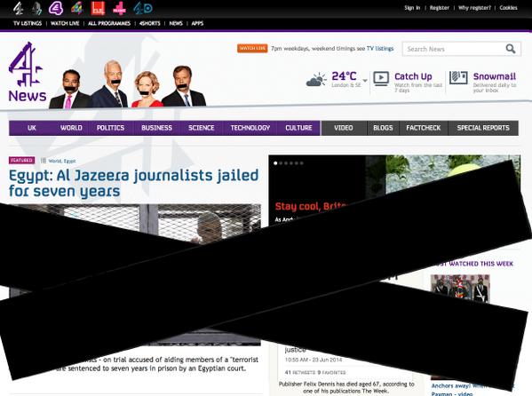 The #c4news website. Now. #FreeAJStaff http://t.co/Rubdf1LX2v