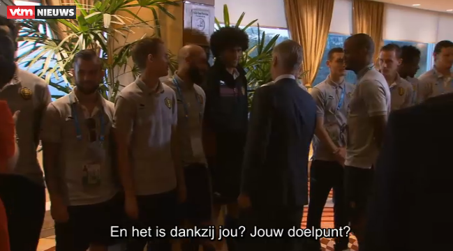 Funny! Belgian Queen congratulates Romelu Lukaku on scoring winner v Russia!