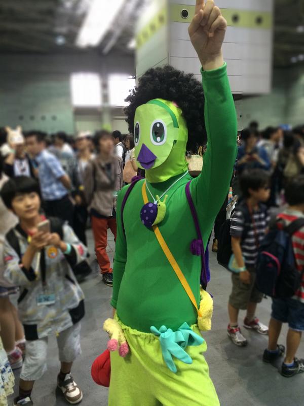 大阪大会の思い出と言えば、ラッピーマンにアフロかぶせたことか。 #PSO2 http://t.co/Ud3j3XUpYl