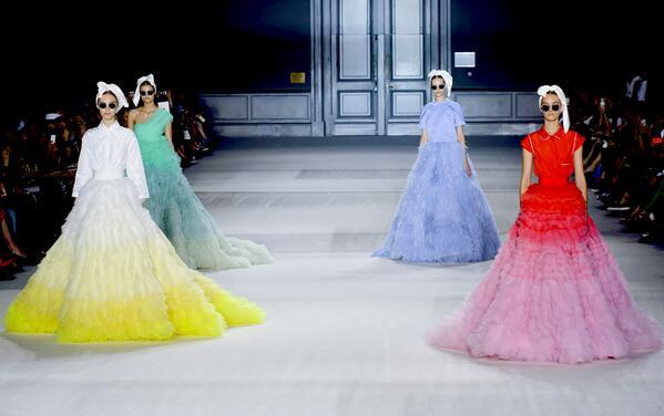 Colorful dress traffic from the giambattistapr for Haute couture meaning in english