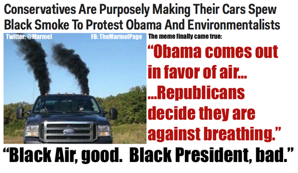 """the stupid runs deep! //RT @Marmel: Remember when we joked """"If Obama was for air, the GOP would stop breathing?"""" http://t.co/NTKC6IqMKi"""
