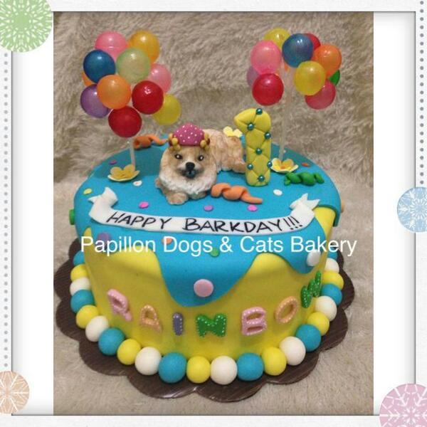 Papillon Bakery On Twitter Rainbow 1st Barkday Cake For