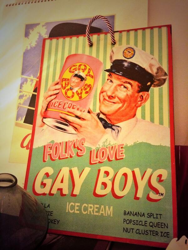 Gay boy cream