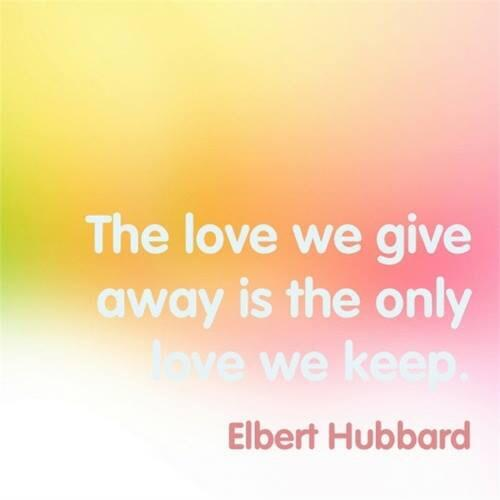 Twitter / JoyAndLife: The love we give away is the ...