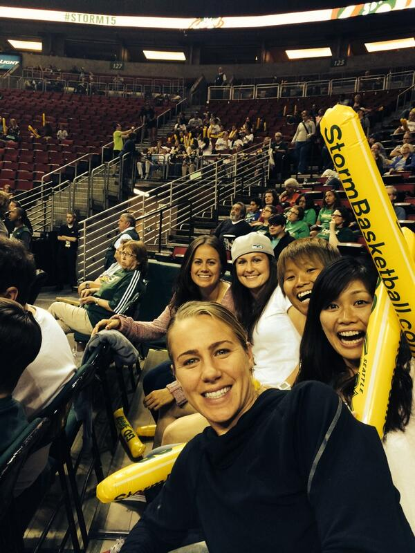 Seattle Storm game!! @seattlestorm #ballers #WNBA http://t.co/KMwU8bbSYi