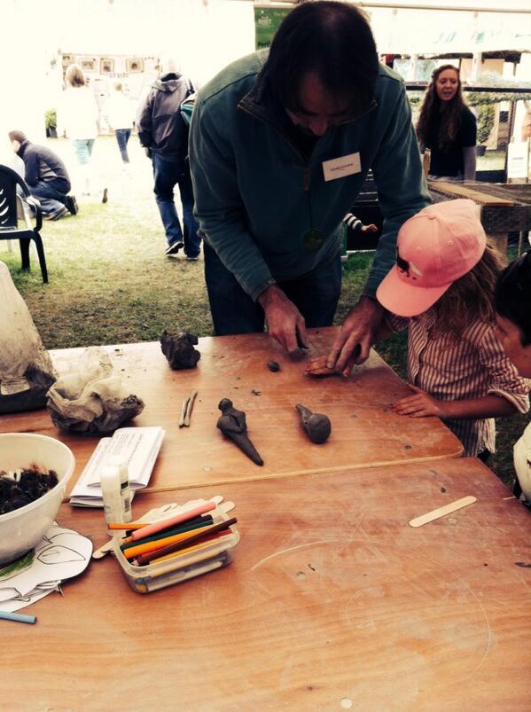 #pheasant sculpting in wee beasties tent http://t.co/drwlKfstdZ