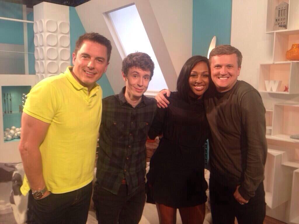 Great fun today with @realaled !! Lovely seeing you guys ! @MattEdmondson @Team_Barrowman ❤️ http://t.co/BzRH8Qz60v