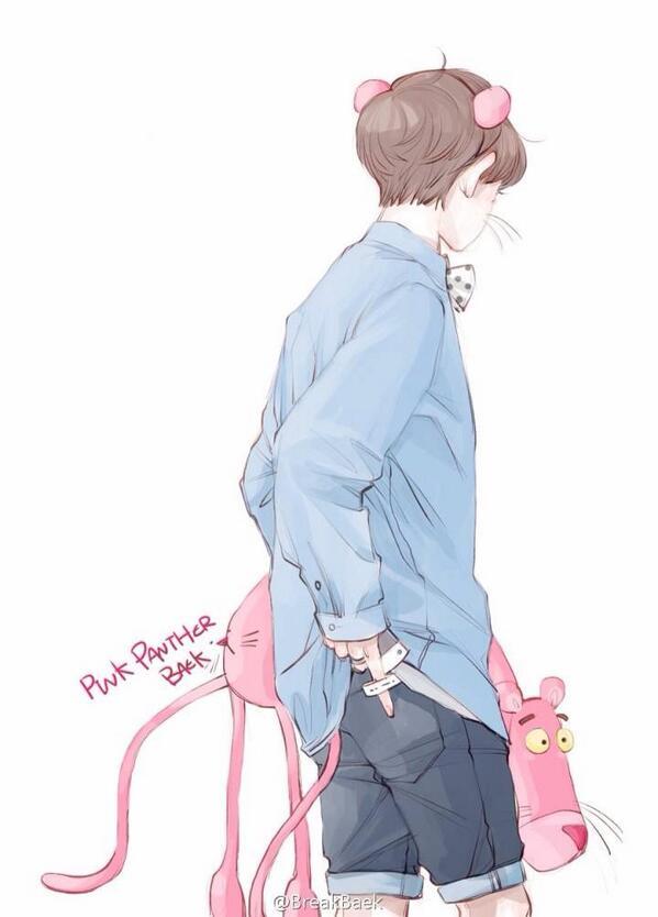 [fanart] in which baek can't find his back pocket 😍😍😍 cr: breakbaek #baekhyun백현