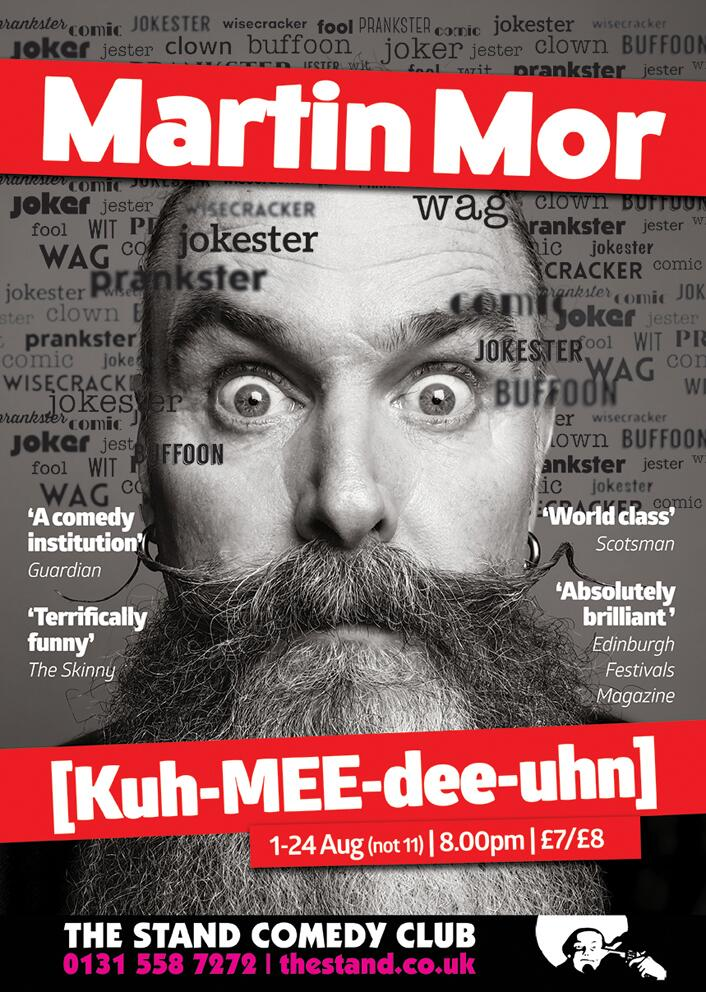 RT @andyholl: I took a photo of @Martinbigpigmor and now it's his Edinburgh Fringe flyer http://t.co/1m7y1GprRg