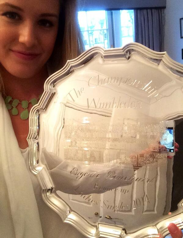 Not the trophy I wanted, but thank you @Wimbledon for a wonderful 2 weeks http://t.co/2GGawxzV7w