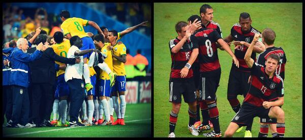 #tempower Terça #BRA jogará com uniforme tradicional: camisa amarela, short azul e meia branca. #GER irá rubro-negra http://t.co/zqtqIQ59nr