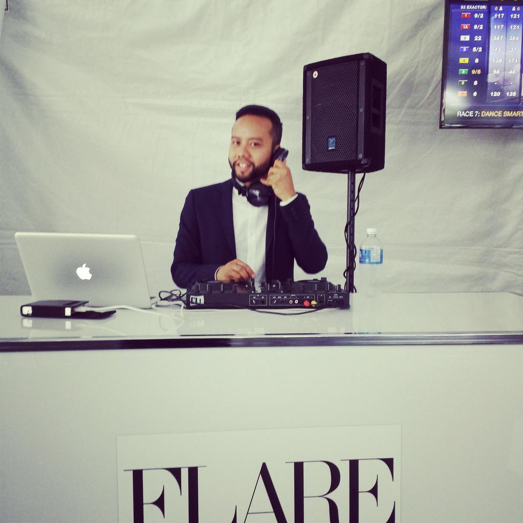 Twitter / WoodbineRacing: .@Diego_Armand DJing some soul ...
