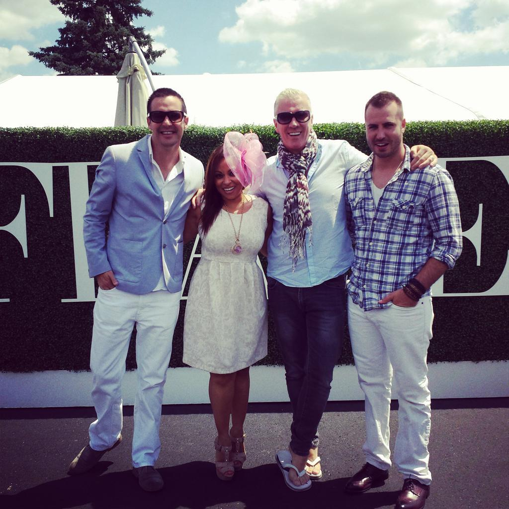 Twitter / WoodbineRacing: Our star guests @colinjustin ...