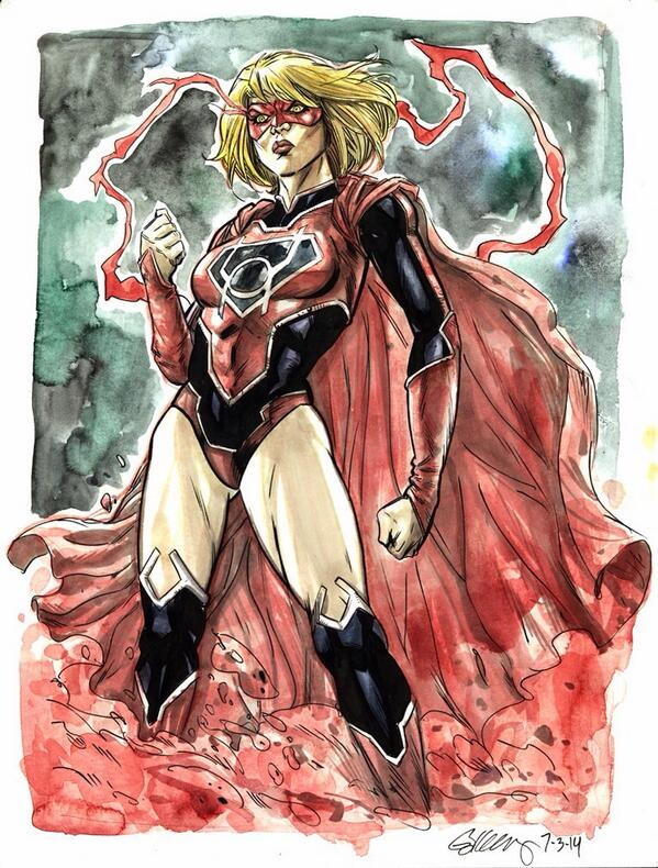 Red Lantern Supergirl By Ryan Kelly