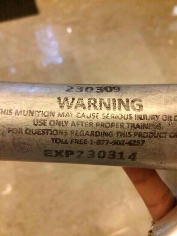 Expired tear gas used by #kuwait Gov forces against protesters  @CNN @AP http://t.co/AX2DhfttG7