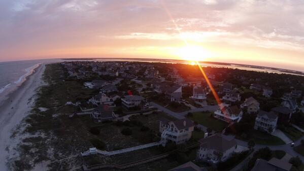 emerald-isle-sunset-by-drone