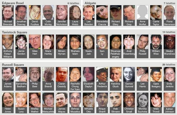 Can't believe it's been 9 years since the London 7/7 bombings! R.I.P to the 52 people that lost their lives