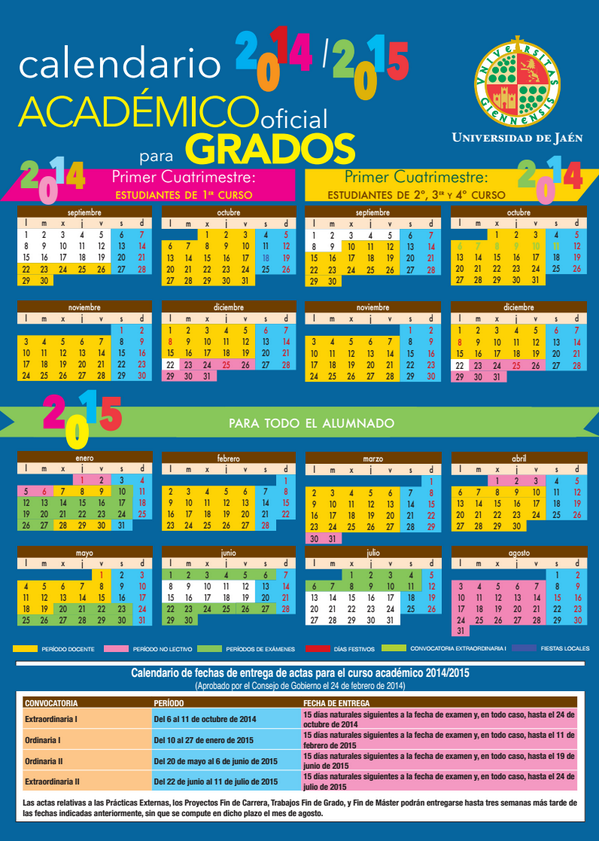 Calendario Ujaen.Universidad De Jaen Twitterissa Rt Pacoroca Calendario Academico