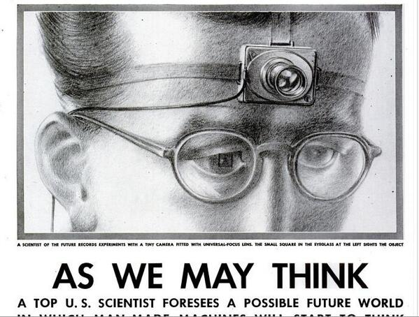 vannevar bush wrote about in a 1945 essay
