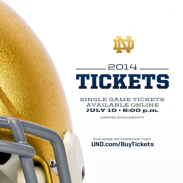 3 days until the @NDFootball ticket go on sale! http://t.co/CfsS4lPWhK #goirish #2014PublicSale http://t.co/X1IJBL31GH
