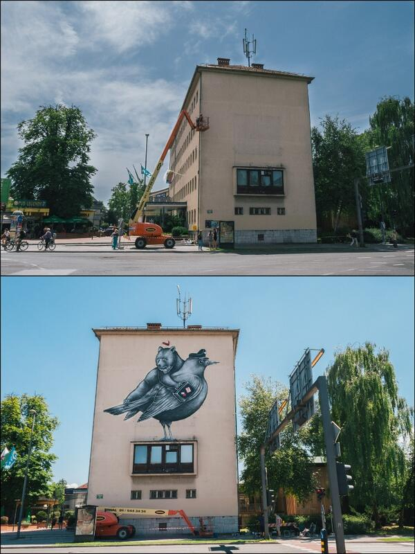before and after #kinovic #kinosiska #ljubljana #mural http://t.co/AhSICFUEwG