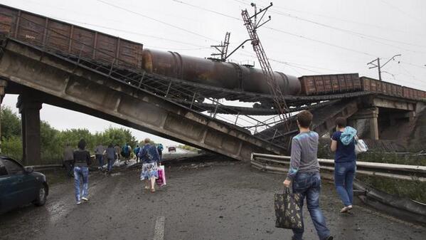 Диверсанты взорвали еще один мост через Северский Донец - Цензор.НЕТ 7452