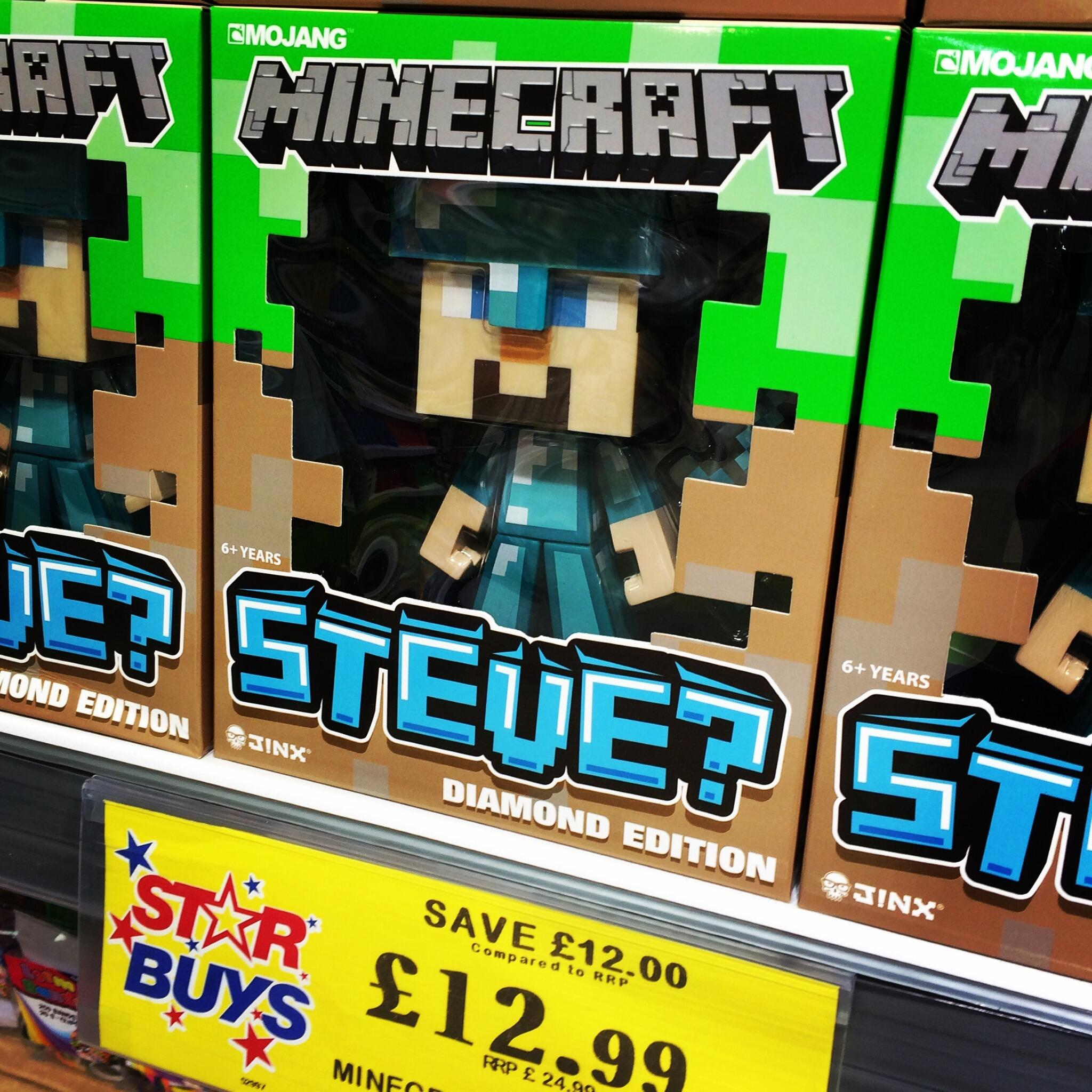 """Home Bargains on Twitter: """"#Minecraft Collectible Steve 12"""" Vinyl"""