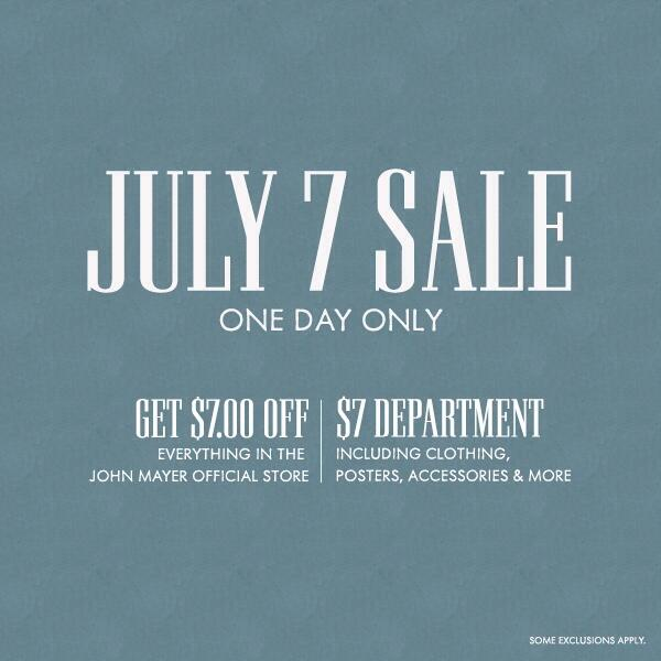 7/7 Sale: everything here is $7: http://t.co/Lzy5kqNmdo (and everything else is $7 off)! http://t.co/Ne7cjQWsGe