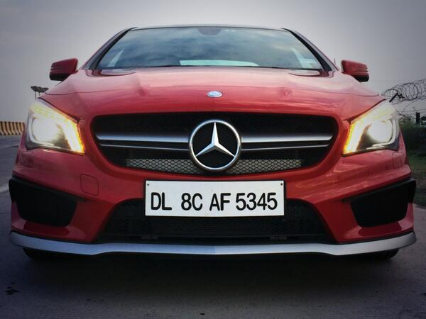 Yes indeed - the gorgeous #CLA45AMG it is! SVP #CNB @NDTVAuto @MercedesBenz @MercedesAMG http://t.co/ba9XXrga5L
