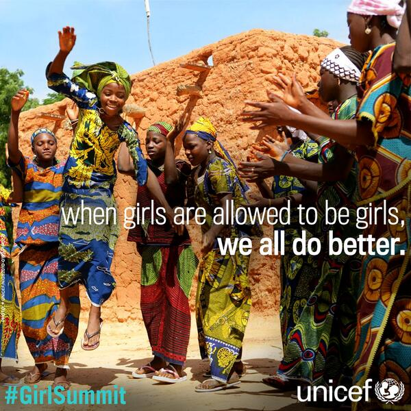 When girls are allowed to be girls, we all do better. #GirlSummit via @UNICEF http://t.co/ZzCqnbOFAP