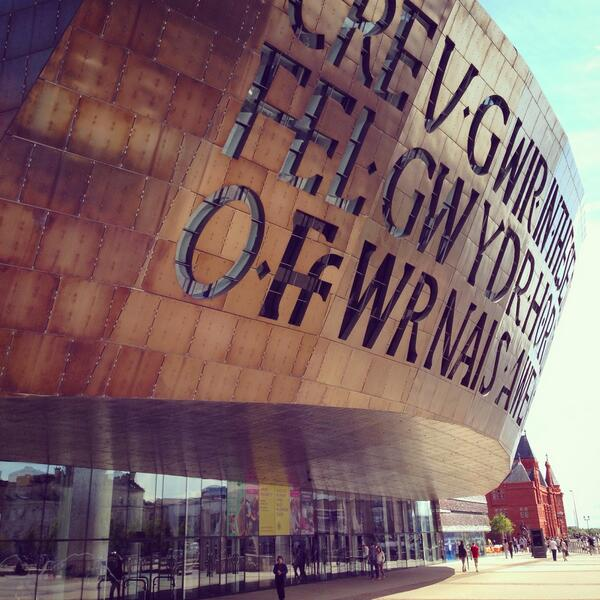 Type & architecture make a great match. The Wales Millennium Centre is no exception: http://t.co/K07Nfz8qj2 http://t.co/wHlYFoI16a