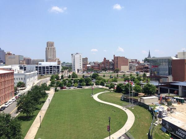 Isn't downtown Durham beautiful, a view from the roof of our new home! http://t.co/7JJWtmMHld