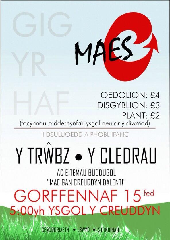 #yagym Myfyrwyr 6ed dosbarth Ysgol y Creuddyn @Maes__C  yn trefnu hwn! Ffansi dod â stondin? Cysylltwch! #Croesoibawb http://t.co/flsPgjNEZJ
