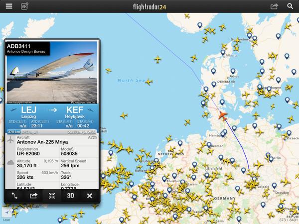 Flightradar On Twitter Antonov An Mriya Is Flying From - Iceland latitude