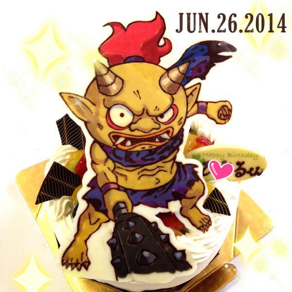キャラデコ職人 On Twitter 本日の妖怪ウォッチのケーキは山吹