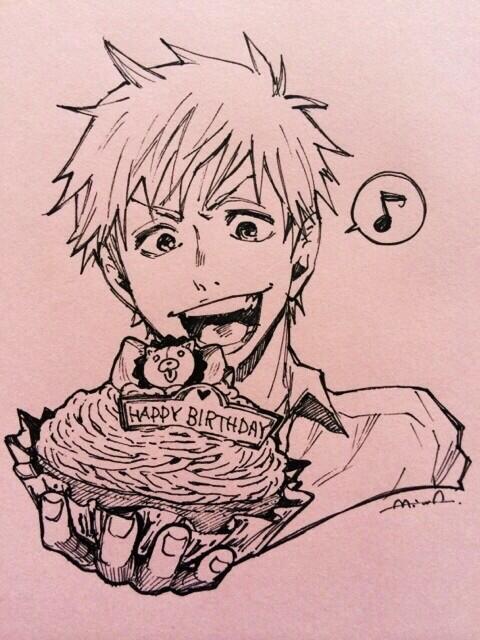 dessin manga anniversaire
