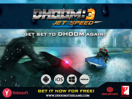The thrilling Aqua Jet Racing #Dhoom3JetSpeed out on mobiles/tablets! DOWNLOAD NOW: http://t.co/QzW9MKDoCT  Pl. RT http://t.co/W8pxOJnJre