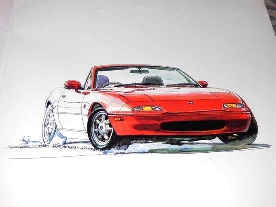 次号NAVI CARS(7/26発売)はユーノス&マツダロードスター特集、です!僕のクルマ好きの原点になった1台でもあります。 http://t.co/R0OnZtFozm