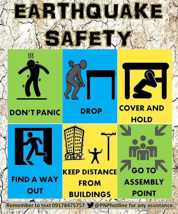 Dpcr on twitter here are some safety tips during an for Best place to be in an earthquake