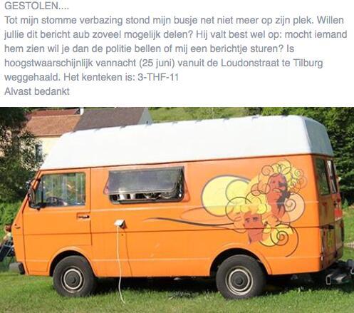 Gisteren is dit leuke busje van een goede kennis van me in #Tilburg gestolen. Help het vinden! #RT http://t.co/CSKjiEHK8K