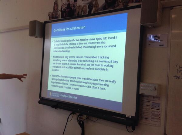 Notion of 'contrived collegiality' still useful @HelenaMarsh81 #SUPER2014  also shares MED research findings http://t.co/TAcn7SCti3