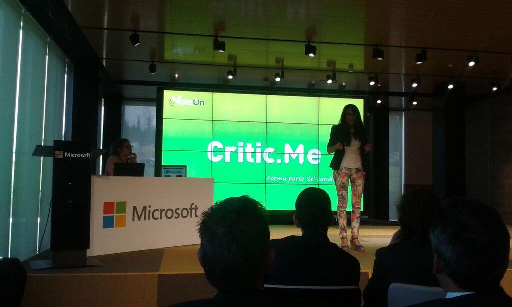 Presentación de su nuevo producto Critic.Me