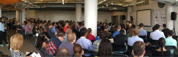 . @DianeHessan inspiring 128 startups at @MassChallenge accelerator Boot Camp #MCengage14 http://t.co/xrMWJgLLEH