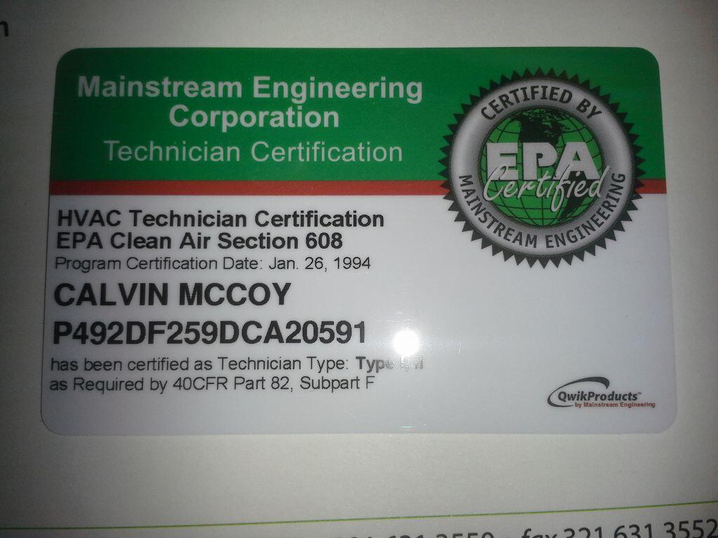 Calvin mccoy on twitter received my epa universal certification calvin mccoy on twitter received my epa universal certification card today couldnt have done it without you lord httpthqabjapi3l xflitez Choice Image