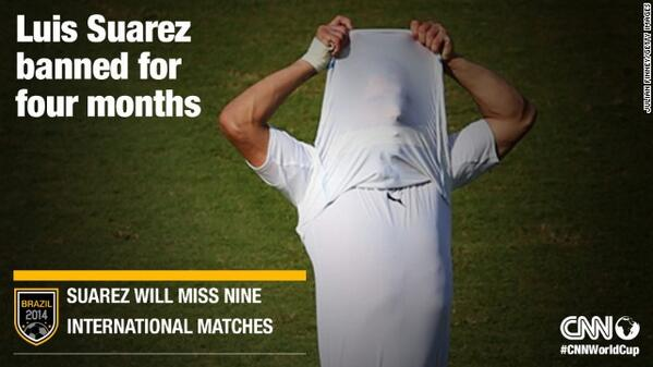 World Cup: Uruguay striker Luis Suarez banned for four months
